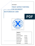 Group 2 -CB Report - Factors Affecting Buying Behaviour of Premium Segment Hatchback Car