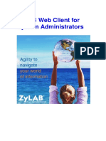 ZyLAB Web Client for System Administrators Manual
