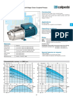 Calpeda MXP Multistage Horizontal Pump