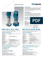 Calpeda MXV Pump Product Guide