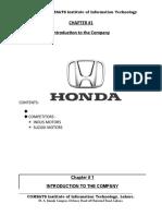 HONDA FINANCIAL ANALYSIS (2004-2008)