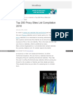 Top 200 Proxy Websites List Compilation 2015