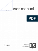 Npp User Manual (notepad ++)