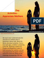 Mothers Day Activities - Appreciate Mothers