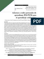 Entornos y Redes Personales de Aprendizaje PLE-PLN Para El Aprendizaje Colaborativo