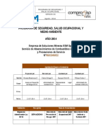 Plan SSMA ESM Spa- Combustible 2014