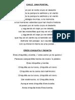 Letra de Cuecas