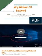 Reset Win 7 Login Password CMD