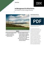 Smart Energy Asset Management Optimization for Wind Farms