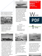 world war one brochure