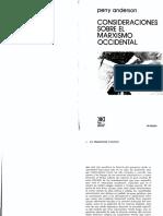 Anderson Consideraciones Sobre El Marxismo Occidental