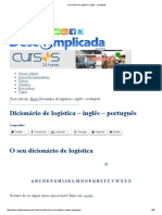 Dicionário de Logística_ Inglês - Português