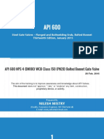 API 600 - Presentation - Steel Gate Valves - Flanged & Bulttwelding Ends, Bolted Bonnet