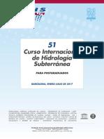51º Curso Internacional de Hidrología Subterránea (2017)