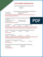 Current Affairs Quiz PDF (October 2015)