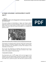 A Hope Unfulfilled. Communists in World War II