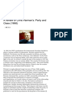 A review of Chris Harman's Party and Class (1968) - Barry Biddulph