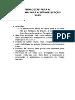 Propostas Para a Ce 2015