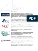 Inversion Center Right Coalition Letter
