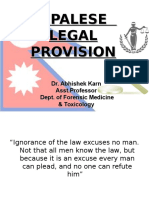 Nepalese Legal Provision