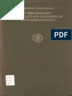 A Bibliography of the Life and Teachings of Jiddu Krishnamurti, by Susunaga Weeraperuma