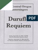 Durufle' Requiem Program