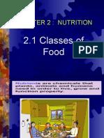 2.1 Classes of food