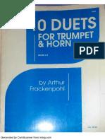 Frackenpohl - Trumpet Horn Duets