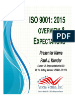 ISO 9001_2015 Overview and Expectations