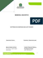 Anexo II Memorial Descritivo-elétrico