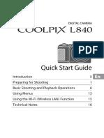 Nikon CoolPix Camera L840 Quick Start Guide