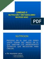 Unidad II Ecologia Fisologica y Metabolismo no