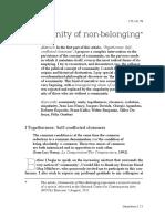 Community of Non-belonging