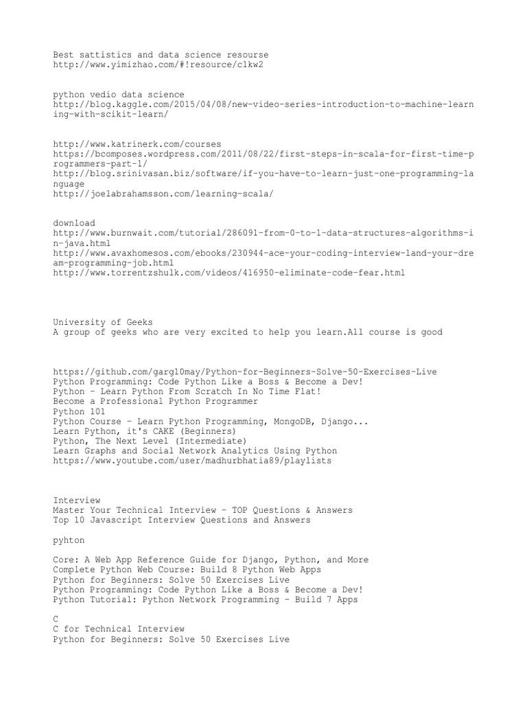 Udemy Coursers | Python (Programming Language) | Apache Hadoop