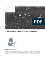 Application of Teflon in Fabric Protection