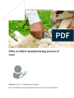 Fibre to Fabric Manufacturing Process of Wool