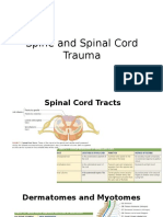 Spine and Spinal Cord Trauma