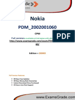 ExamsGrade PDM_2002001060 Practice Test
