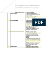 Annex M - MSDS or GHS of Classification of Controlled Chemicals