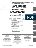 English User Manual for Alpine Mobile Media Station Iva-w200ri