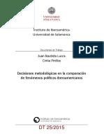 Decisiones metodológicas en la comparación de fenómenos políticos iberoamericanos