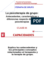 La Psicoterapia de Grupo Antecedentes, Características UCV 2016