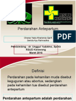 Referat Perdarahan Antepartum April 2016