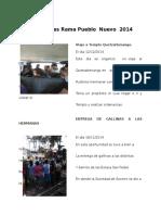 Actividades Rama Pueblo Nuevo 2014