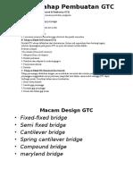 Tahap Tahap Pembuatan GTC Dan Design