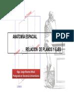 Anatomia Espacial Relacion de Planos y Ejes