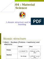 1. Atomic Structure Interatomic Bonding 1