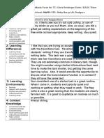 chris lesson 5 observation feedback