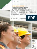 MGI Power of Parity_Executive Summary