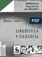 Etienne Gilson, Carta Séptima, en Lingüistica y Filosofía